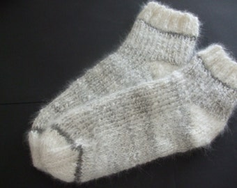 Super warm knitted Angora bed socks for at home