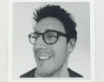 Personalised Halftone Portrait - 2 Tiles