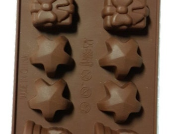 Taavi Christmas #2 Silicone Mold (Candy, Chocolate, Finger Jello, Butter, Wax, Ice Cubes) (T803)