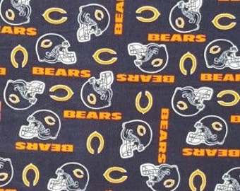 READY TO SHIP Chicago Bears Knotted Fleece Throw With Antipill Backing