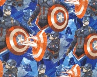 Captain America Knotted Fleece Throw