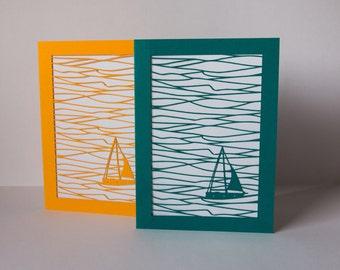 sailing boat card