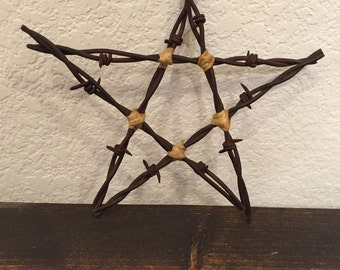 Barb wire star decoration