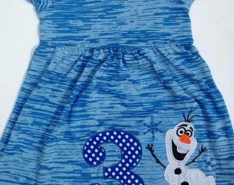 Olaf Snowman Birthday Dress any number