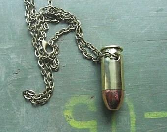 Real Bullet Necklace - .45 ACP - Handmade Bullet Necklace - Bullet Jewelry - Bullet Necklace made out of a Real Bullet