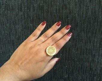 Maroon Indian Pakistani Thewa Royal rings for wedding parties, exclusive Bajirao Mastani inspired design
