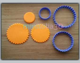 Set of Scalloped Circle Cookie Cutters