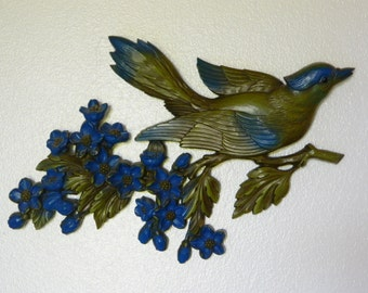 1967 Syroco Bird On A Branch wall Hanging Decoration Put A Bird On It