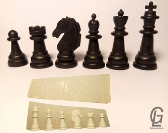 3D Chess silicone Mold mould fondant chocolate cake candle fimo
