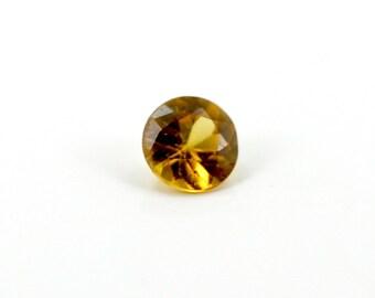 3 mm Round Yellow Sapphire Gemstone 0.14ct