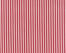 The Boat House Fabric, 1/2 yard, Striped Boat House Fabric, Red Stripe, Boathouse, Moda Fabric, Sweetwater, 5555-22