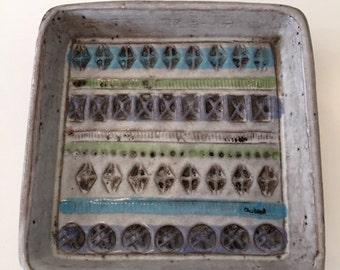 Mid Century Italian Ceramic Plate Dish 1970's