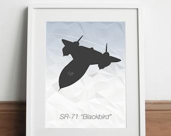 Lockheed SR-71 Blackbird Aircraft - Art print