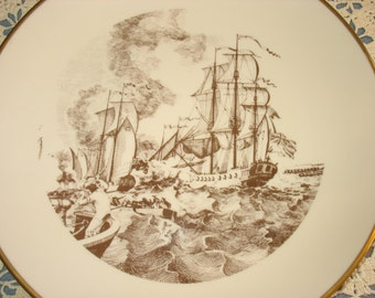 The Lake Champlain Naval Battle October 11, 1776 Plate