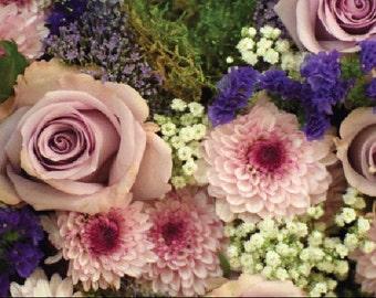 Pink Roses & Chrysant's