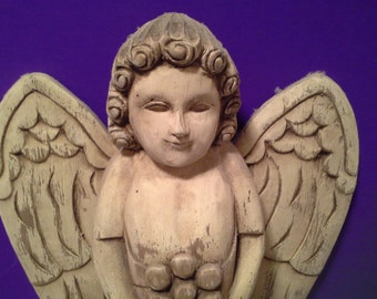Someone to watch over you......Wooden angel