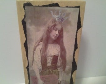 Dreaming....box with victorian girl