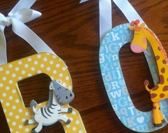 Nursery name letters baby boy