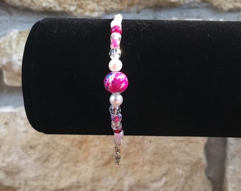 Pink Splash Bracelet