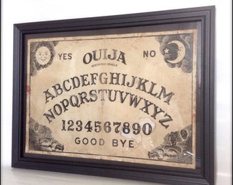 Ouija Board reproduction print in frame