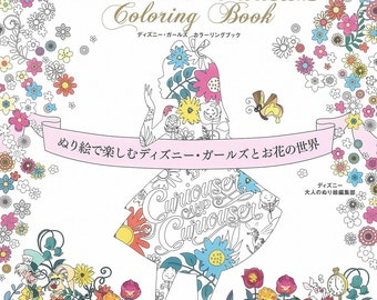 Disney Girls Coloring Book -  Girls and Flowers of World