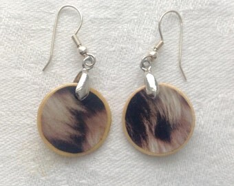 Faux fur earrings