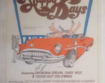Happy Days Adult Movie Poster, Signed by Georgina Spelvin