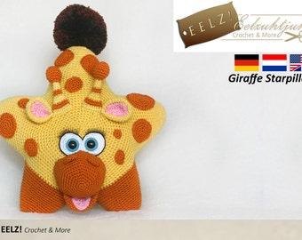 Star Pillow Giraffe XL - Crochet Pattern