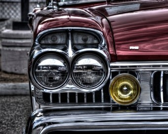 Head On Headlights - Automobile Photography, Classic Cars, Automotive Photography, Classic Automobiles, Automotive Decor, Old Car Pictures