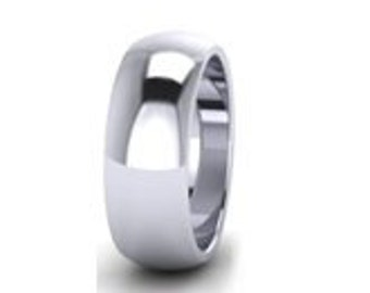7mm Wide - PLATINUM Wedding Ring - Any size H - P ( US SIZE 4 - 7 3/4 )