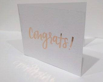 Gold Foil Card – Congrats!