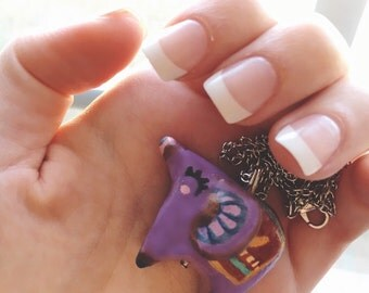 Purple Elephant with Blanket Necklace