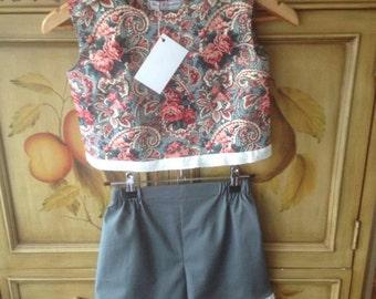 50s Shorts & Top Set size 6
