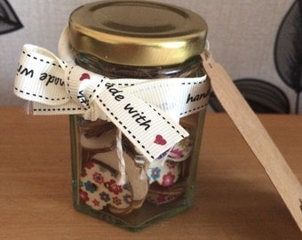 Vintage button jar gift