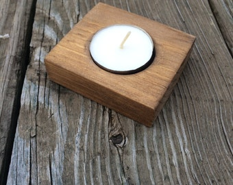 Handmade Wood Candle Holder