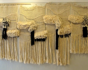 Large macrame wall hanging, large woven wall hanging, handwoven tapestry, tissage mural, handmade wall tapestry, rustic home decoration,