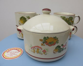 Soup tureen - farmhouse style pottery