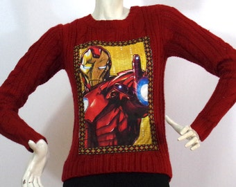 Iron man red sweater Pattern Size S Brand: Pull & Bear