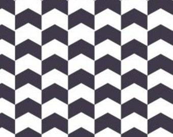 Kate Chevron in Indigo  - HALF YARD - Camelot Design Studio - Cotton Fabric - Quilting Fabric