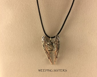 Supernatural Squirrel Necklace Wings Destiel