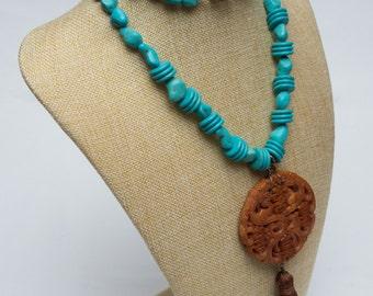 Turquoise necklace unique