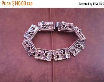 ON SALE Vintage R Larin Modernist Style Bracelet