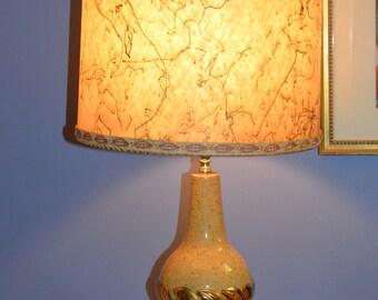 1950's Mid Century Lamp with original fiberglass shade