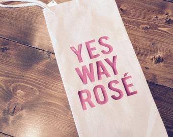 Wine Bag - Yes Way Rose