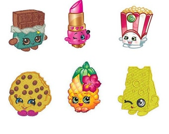 Shopkins Inspired PES Machine Embroidery Set 3