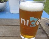 Nice Minnesota Pint Glass - Minnesota Beer Glass, Minnesota State Pint Glass, State Glass  - Made in USA
