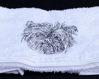 Dog Breed Embroidered Hand Towel