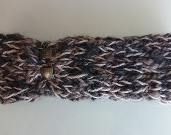 Knit Turban Headband - Hand knitted acrylic/wool headband - ear warmer - Hand Made - Bohemian style