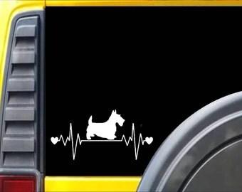Scottish Terrier Lifeline Decal Sticker *I248*