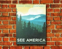 See America Great Smokey Mountains Poster - #0679